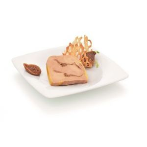 Duck foie gras with figs - 200g (halal) - ready to be sliced
