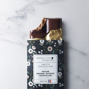 Almond-hazelnut praline dark chocolate bar - 100g