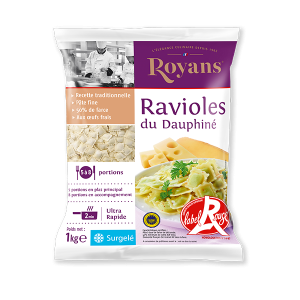 Ready-to-cook Red Label ravioles du Dauphine / cheese raviolis - 1kg (frozen)