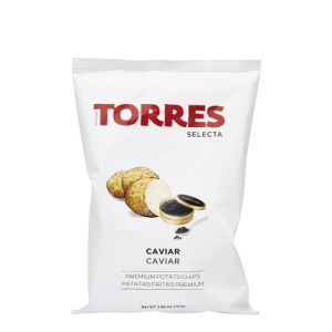 Gourmet potato crisps/chips with caviar - 125g
