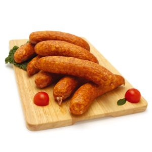 Chilled raw smoked sausages - 8x125g (non-halal)