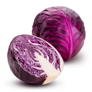 Organic red cabbage - 600g/piece