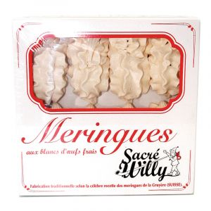 "Artisanal meringues ""gondoles"" according to the famous Swiss recipe from La Gruyere - 16 pieces"