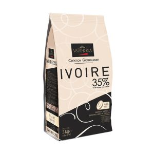 Valrhona white chocolate Ivoire 35% - 3kg - with light delicate flavor of fresh milk and vanilla