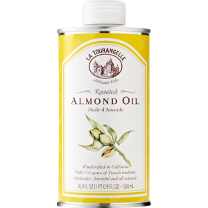 Roasted almond oil - 250ml - pure and 100% natural, handcrafted in California