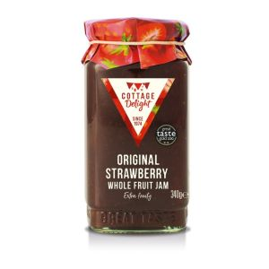"Original strawberry whole fruit jam - 340g ""Great Taste"" awarded"