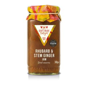 "Rhubarb and stem ginger jam - 340g ""Great Taste"" awarded"