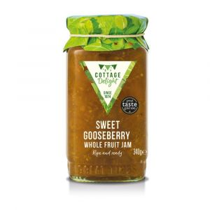 "Sweet gooseberry whole fruit jam - 340g ""Great Taste"" awarded"