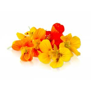 Edible nasturtium/capucine flowers - 30 to 50g per punnet - sweet and spicy flavor
