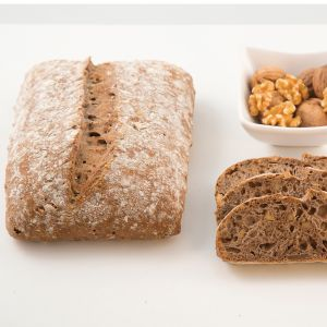 Pre-baked pave bread with walnuts by MOF Frederic Lalos - 400g (frozen) - ideal with farm cheese