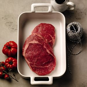Chilled dry-aged grass-fed Irish beef ribeye 330 aed/kg - 3kg - hormone-free, antibiotic-free (halal)