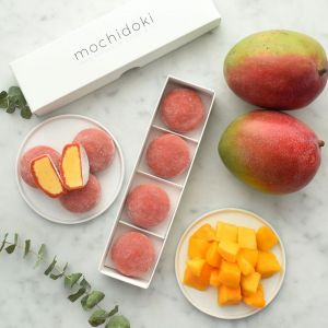 NEW vegan mango mochi ice cream - set of 4 - no artificial sweetener or colouring