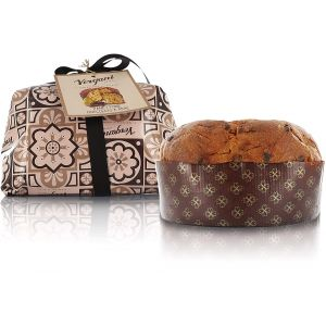Hand wrapped artisanal chocolate & pears panettone - 1kg Italian traditional recipe