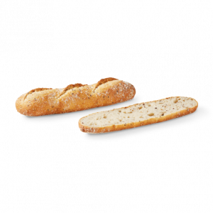 Pre-baked cereals half baguette - 2 x 140g (frozen) - follow our cooking tip