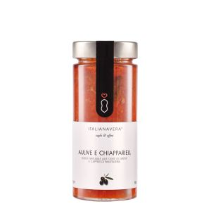"""Fresh tomato sauce """"puttanesca"""" - 280g - natural ready-sauce with olives & capers"""