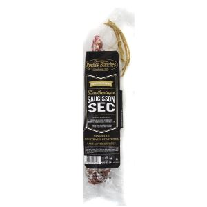 Dry salami / saucisson sec - 200g - nitrate-free, nitrite-free, antibiotic-free from porks raised in Normandie
