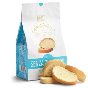 "Sugar-free sweet brioche bread slices ""Biscotti"" baked in Tuscany - 200g"