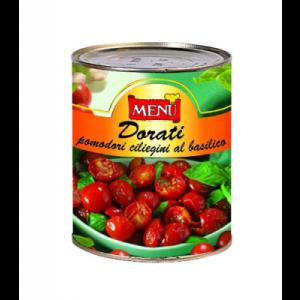 Dorati pomodorini ciliegini al basilico - semi dried cherry tomatoes with basil - 800g
