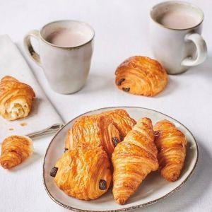 Pre-baked French breakfast set 6 mini croissants / 6 mini pains au chocolat - (frozen)