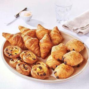 Pre-baked French breakfast set Lenotre 6 mini croissants/6 mini pains au chocolat / 6 mini pains au raisins - (frozen)