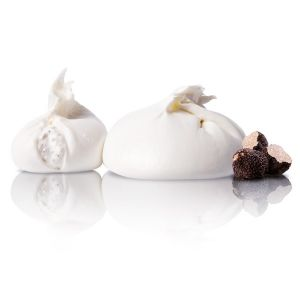Burrata Pugliese al tartufo / Fresh burrata aromatized with summer truffle from Puglia - 100g
