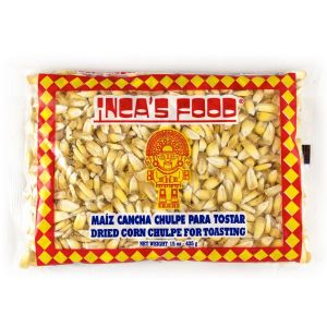 Maiz cancha chulpe / corn cancha for toasting - 425gr