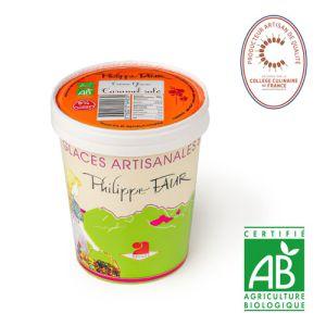 Artisanal organic salted caramel ice cream - 500ml (frozen) - 100% natural, no coloring, no taste enhancer, no artificial aroma, no preservative
