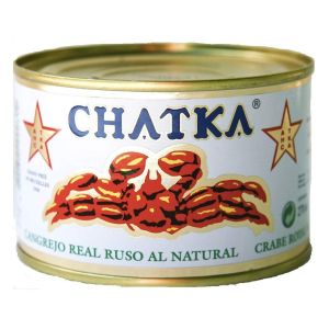 60% legs Russian Chatka King Crab in natural brine - 185g nett