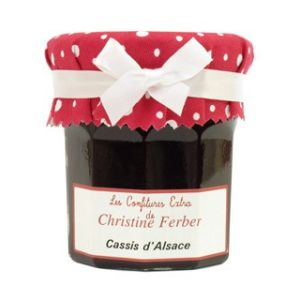 Alsatian blackcurrant jam - 100% natural, no preservative, no flavoring - 220g