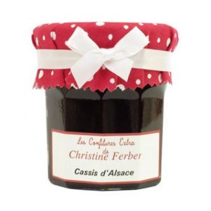 Alsatian blackcurrant jam - 100% natural, no preservative, no flavoring - 220g