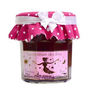 Fairies' marmalade - raspberry with rose petals  - 100% natural, no preservative, no flavoring - 220g