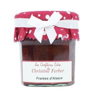"Alsatian ""Charlotte"" strawberry jam 100% natural, no preservative, no flavoring - 220g"