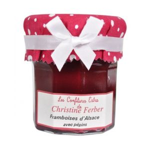 Alsatian raspberry with seeds jam 100% natural, no preservative, no flavoring - 220g