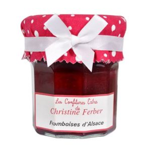 Alsatian raspberry seedless jam 100% natural, no preservative, no flavoring - 220g