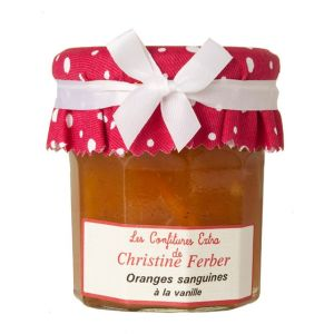 Blood orange and vanilla marmalade 100% natural, no preservative, no flavoring - 220g