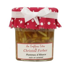 Alsatian apple jam with caramel - 100% natural, no preservative, no flavoring - 220g