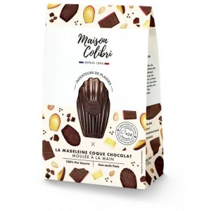 Dark chocolate shell classic madeleine - 240g individually wrapped, palm-oil free