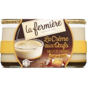 Creme caramel / creme aux oeufs - 2 x 150g - 7 days minimum shelf life