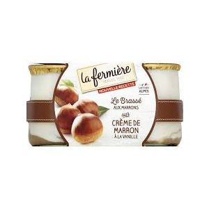 Whole milk chestnut with vanilla yogurt - 2 x 140g - minimum 7 days shelf life