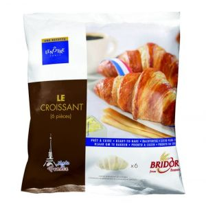 "Pre-baked pur beurre croissants / ""all butter"" - 6 x 60g per pack (frozen)"