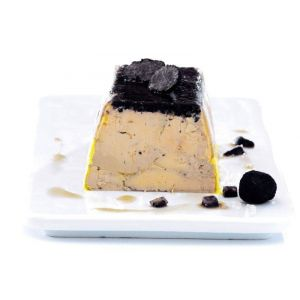 Duck foie gras with truffles - 200g (halal) - ready to be sliced