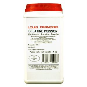 Louis Francois fish gelatin / 200 Bloom - 1kg