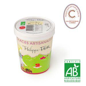 Artisanal organic milk flower/ stracciatella ice cream - 500ml (frozen) - EXPIRY 03.07 - 100% natural, no coloring, no taste enhancer, no artificial aroma, no preservative