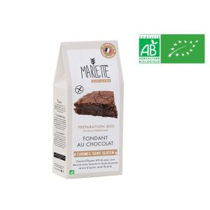 Organic baking mix preparation GLUTEN-FREE for chocolate fondant - 350g for 6/8 servings