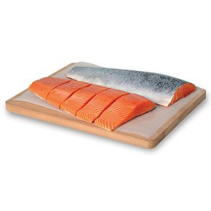 Fresh Scottish salmon fillet pinboned & scaled (vacuum packed) ideal for sashimi or oven cooking - 1 to 1.5kg - price will be adjusted as per final weight