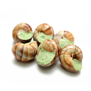 Bag of 48 extra large Burgundy snails stuffed with garlic and parsley butter sauce - 690g (frozen)