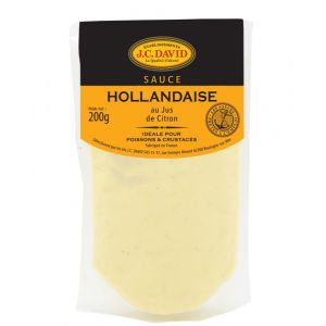 "Heat-and-pour ""Hollandaise"" sauce, no colouring - 200ml - ideal with asparagus, to prepare benedict eggs or with fish"