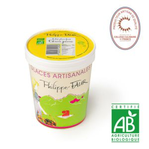 Artisanal organic lemon sorbet - 500ml (frozen) - 100% natural, no coloring, no taste enhancer, no artificial aroma, no preservative