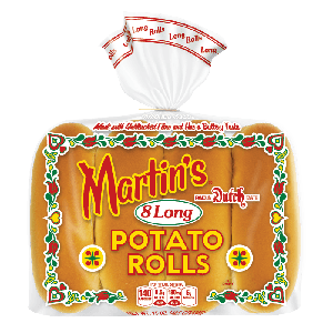 Long potato rolls 5' 1/2 inch - 8pc (frozen)