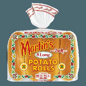 Long potato rolls 5' 1/2 inch - 8pc (frozen)